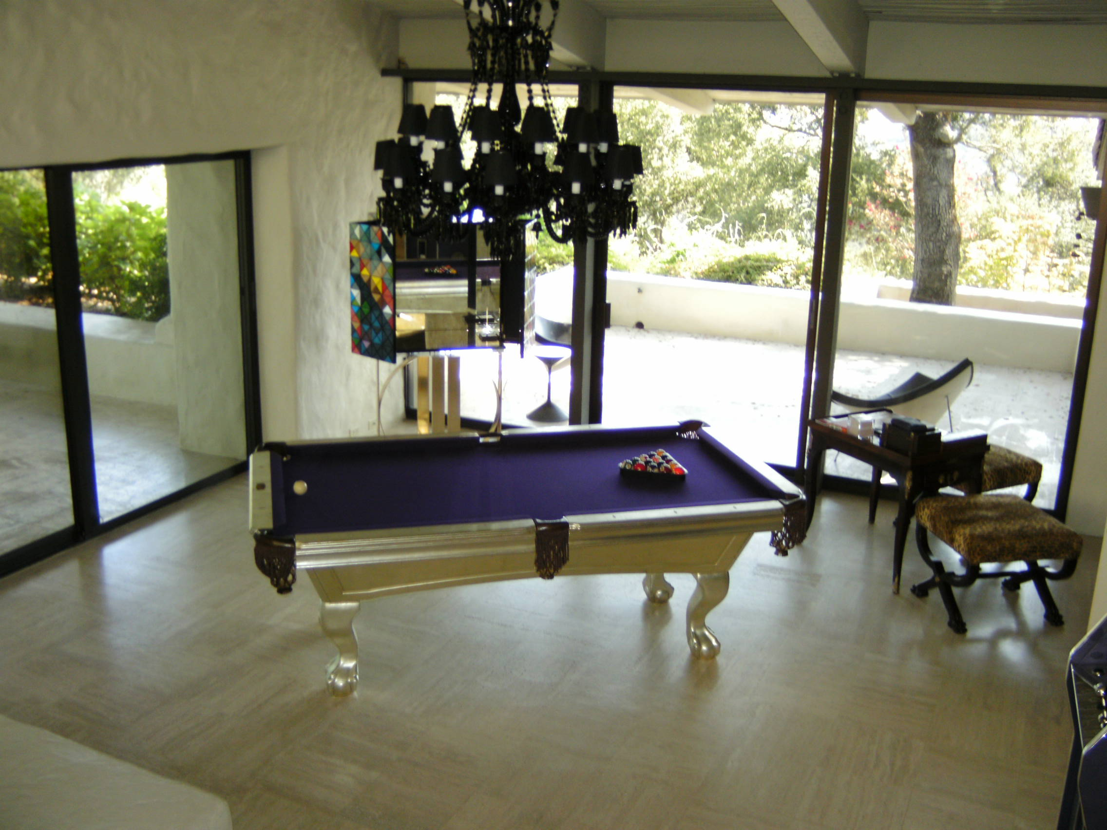 White Gold Pool Table Snooker Table
