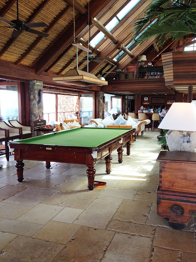 Necker Island Table after the fire