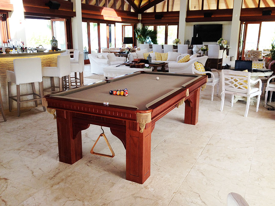 Snooker Table Size - New Table on Moskito Island
