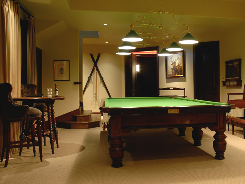 Burroghes and Watts Steel Cushion Billiard Table