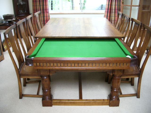 Snooker Pool Dining Tables and Diners