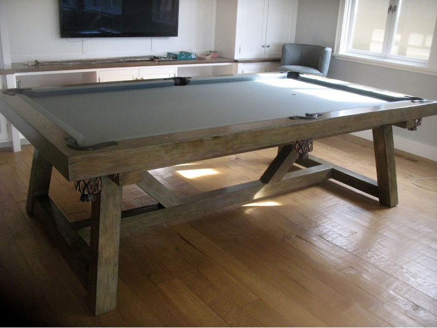Custom Pool Table - Grey Driftwood