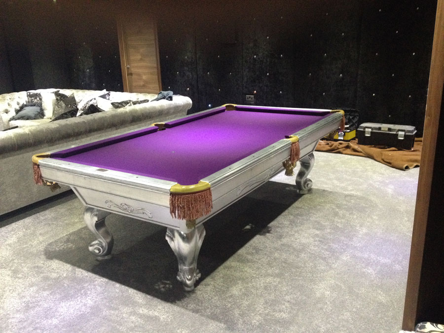 Custom Pool Table - Guilded Silver